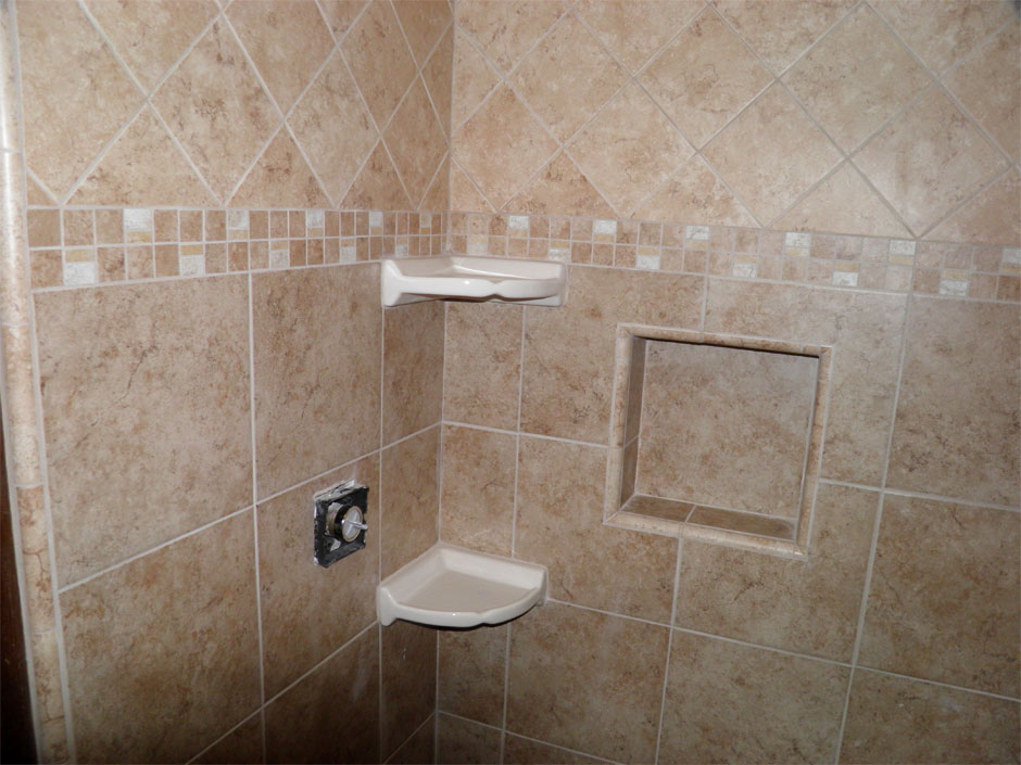 Bathroom tile for floors and showers h h huehl construction for Tiled bathroom designs pictures